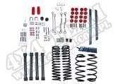 Suspension Lift Kit, 4 Inch, No Shocks; 97-02 Jeep Wrangler TJ