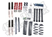Suspension Lift Kit, 2 Inch, Shocks; 97-02 Jeep Wrangler TJ