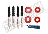 Suspension Coil Spring Spacer Kit, 2 Inch Lift, Shocks; 99-04 Jeep WJ
