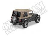 Plandeka Replace-A-Top z przyciemnianymi oknami/poszyciem drzwi ciemny Beż 97-02 Jeep TJ Wrangler