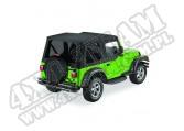 Plandeka Replace-A-Top z przyciemnianymi oknami/poszyciem drzwi Czarny Diamond 03-06 Jeep TJ
