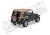 Plandeka Replace-A-Top przyciemniane okna ciemny Beż 97-02 Jeep TJ Wrangler