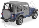 Plandeka ze stelażem Supertop z drzwiami Charcoal 97-06 Jeep TJ Wrangler