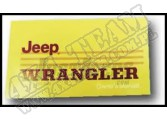 Owners Manual; 1988 Jeep Wrangler YJ