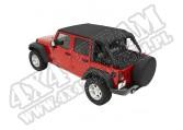Daszek Safari Header Bikini Czarny Diamond 07-09 Jeep Wrangler Unlimited