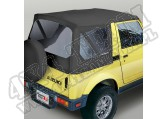 Soft Top, Black Denim, Clear Windows; 86-95 Suzuki Samurai