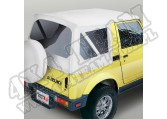 Soft Top, White Denim, Clear Windows; 86-95 Suzuki Samurai