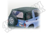 Soft Top, Black Denim, Clear Windows; 88-94 Suzuki Sidekicks