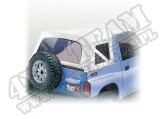 Soft Top, White Denim, Clear Windows; 88-94 Suzuki Sidekicks