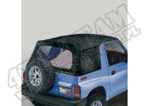 Soft Top, Black Denim, Clear Windows; 95-98 Suzuki Sidekicks