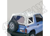 Soft Top, White Denim, Clear Windows; 95-98 Suzuki Sidekicks