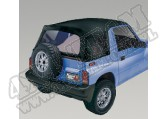 XHD Soft Top, Black Denim, Clear Windows; 88-94 Suzuki Sidekicks