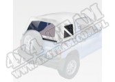 XHD Soft Top, White Denim, Clear; 88-94 Suzuki Sidekick/Geo Tracker