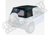 XHD Soft Top, Black Denim, Clear Windows; 95-98 Suzuki Sidekicks