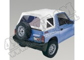 XHD Soft Top, White Denim, Clear Windows; 95-98 Suzuki Sidekicks