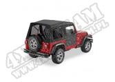 Plandeka ze stelażem Supertop przyciemniane okna/Doors Czarny Denim 97-06 Jeep TJ Wrangler