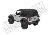 Plandeka ze stelażem Supertop Czarny Diamond 07-12 Jeep 2 drzwiowy JK Wrangler