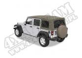 Plandeka ze stelażem Supertop Khaki Diamond 07-10 Jeep 4 drzwiowy JK Wrangler Unlimited