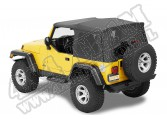 Plandeka ze stelażem Supertop NX Czarny Denim 97-06 Jeep TJ Wrangler