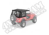 Plandeka ze stelażem Supertop Replacement Skin Czarny Denim 76-95 Jeep CJ7/YJ Wrangler