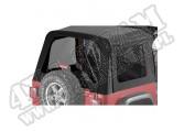 Zestaw przyciemnianych okien do plandeki Sunrider Czarny Denim 97-06 Jeep TJ Wrangler