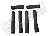 Handlebar Wrap Kit, Black, 6 Piece; 04-11 Yamaha Rhino UTV