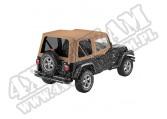 Plandeka PREMIUM z płótna Sailcloth Replace-A-Top z przyciemnianymi oknami/poszyciem drzwi Spice 88-95 Jeep YJ