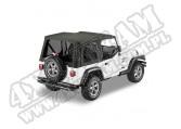 Plandeka PREMIUM z płótna Sailcloth Replace-A-Top Czarny Denim 97-02 Jeep TJ Wrangler