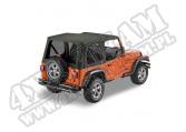 Plandeka PREMIUM z płótna Sailcloth Replace-A-Top przyciemniane okna Czarny Diamond 03-06 Jeep TJ Wrangler