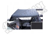 Pocket Brief Top, Black Diamond; 87-91 Jeep Wrangler YJ