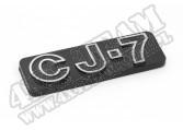 Emblem, CJ7; 76-86 Jeep CJ7