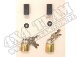Door Hinge Lock Kit; 97-06 Jeep Wrangler TJ