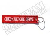 """Zawieszka do kluczy """"Check before drive"""" czerwona"""