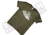 Bawełniany Tshirt 4x4 ZIELONY rozmiar S