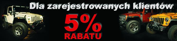 H: Rabat -5% dla zarejestrowanych klientów na całość oferty (na zakupy po zalogowaniu się do swojego konta!)
