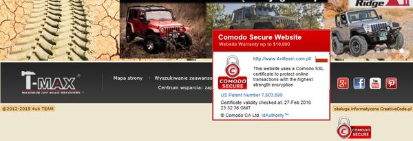 COMODO certified